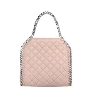 Stella McCartney Mini Falabella in pale pink quilt